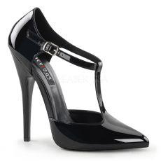 DOMINA-415 Sexy černé lodičky na vysokém podpatku