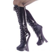 FEMME-2020 Extrémní vysoké podpatky dámské kozačky pod kolena