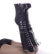 FEMME-2020 Extrémní vysoké podpatky dámské kozačky pod kolena černá kůže