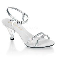 BELLE-316 Páskové sandálky na nízkém podpatku