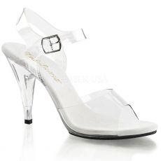CARESS-408 Průhledné boty na podpatku pro soutěže