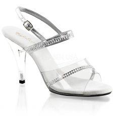 CARESS-439 Průhledné boty na podpatku