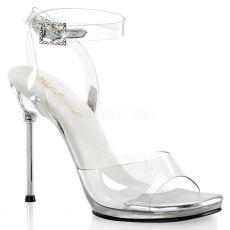 CHIC-06 Průhledná společenská obuv na jehlovém podpatku