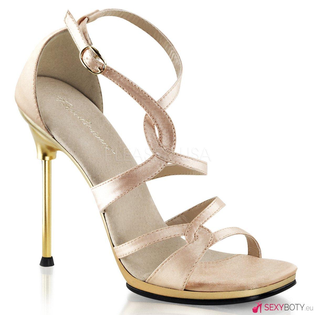 CHIC-46 Páskové společenské boty na podpatku 90b4704f56