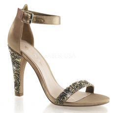 CLEARLY-436 Bronzová společenská obuv na podpatku