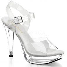 COCKTAIL-508 Sexy průhledné boty na podpatku a platformě