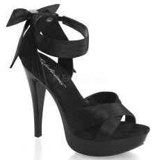 COCKTAIL-568 Luxusní černé společenské boty na podpatku