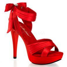 COCKTAIL-568 Luxusní červené společenské boty na podpatku