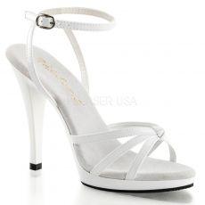 FLAIR-436 Bílá společenská sexy obuv na podpatku
