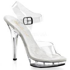 LIP-108 Klasické průhledné společenské boty na podpatku
