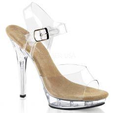 LIP-108 Sexy průhledné společenské boty na podpatku