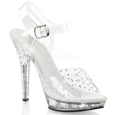 LIP-108RS Luxusní sexy boty na podpatku ozdobné kameny