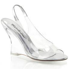 LOVELY-450 Průhledná plesová obuv