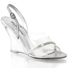 LOVELY-456 Průhledná plesová obuv