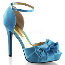 LUMINA-36 Elegantní modré dámské lodičky na podpatku