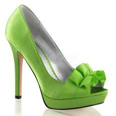 LUMINA-42 Elegantní zelené luxusní dámské lodičky na podpatku