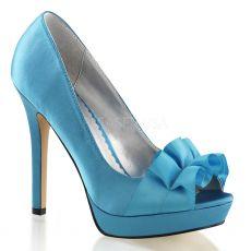 LUMINA-42 Elegantní modré luxusní dámské lodičky na podpatku