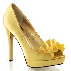 LUMINA-42 Elegantní zlaté luxusní dámské lodičky na podpatku