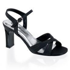 ROMANCE-313 Plesové černé sandály
