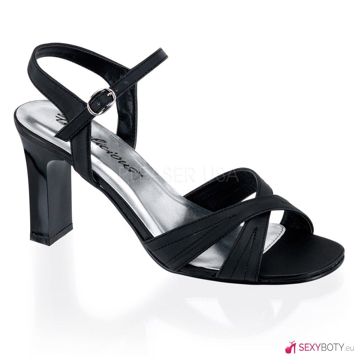 753b0063d5f ROMANCE-313 Plesové černé sandály