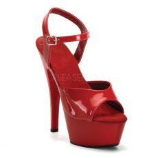 JULIET-209 Červené sexy boty na podpatku a platformě
