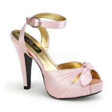 BETTIE-04 Růžové svatební a společenské boty na podpatku