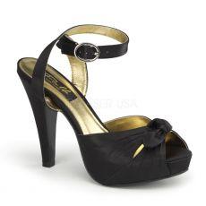 BETTIE-04 Černé společenské boty na podpatku