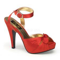 BETTIE-04 Červené společenské boty na podpatku