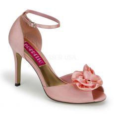 ROSA-02 Růžové sandálky na podpatku