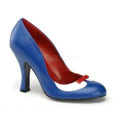 SMITTEN-05 Modré retro dámské lodičky
