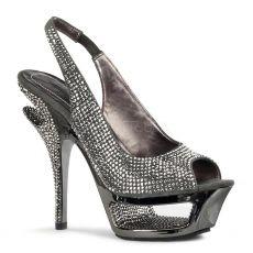 DELUXE-654RS Luxusní obuv na podpatku tmavě šedivé