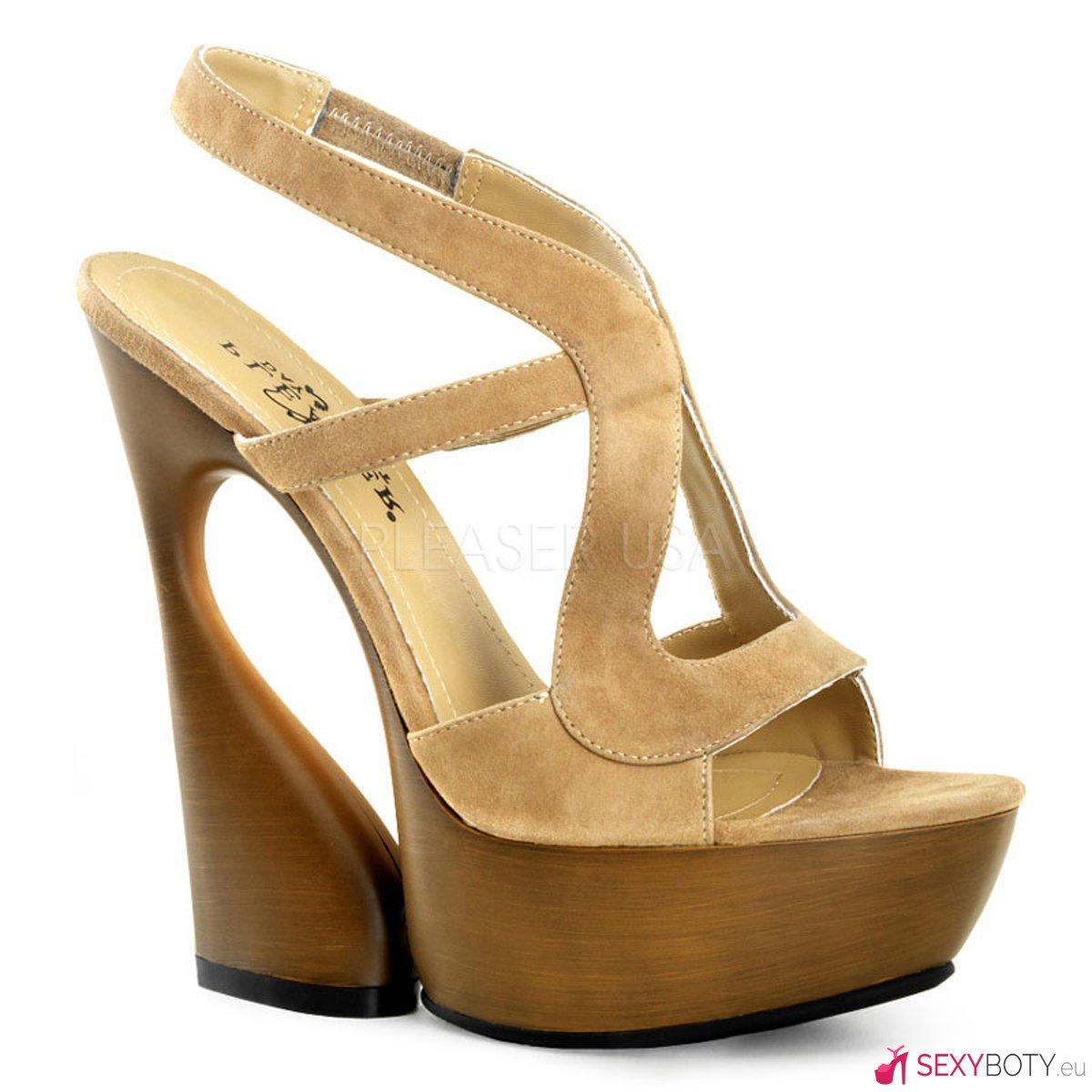 1ff8274f452 SWA657 TPS Béžové boty na klínku
