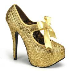 TEE04R/G Zlaté  extravagantní lodičky