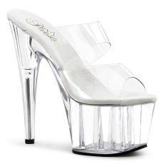 ADORE-702 Páskové sexy boty na podpatku průhledné