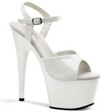 ADORE-709 Klasické bílé sexy boty na podpatku a platformě