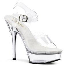 ALLURE-608 Průhledné sexy boty na kovovém podpatku