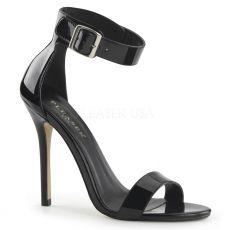 AMUSE-10 Černá plesová obuv na podpatku