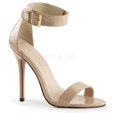 AMUSE-10 Krémová plesová obuv na podpatku