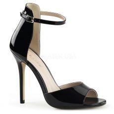 AMUSE-14 Černá plesová obuv na podpatku
