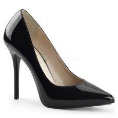 AMUSE-20 Klasické černé dámské lodičky na vysokém podpatku