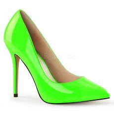 AMUSE-20 Klasické světle zelené dámské lodičky na vysokém podpatku