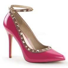 AMUSE-28 Pleaser růžové dámské lodičky na podpatku