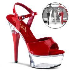 CAP609/R/C Červené sexy boty na pole dance