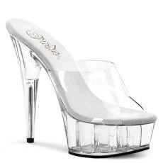 DELIGHT-601 Dámské sexy průhledné pantofle na podpatku