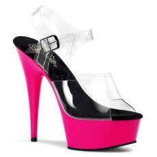 DELIGHT-608UV Svítící růžové boty pro tanec na tyči pole dance obuv