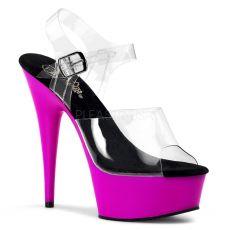 DELIGHT-608UV Svítící tmavě růžové boty pro tanec na tyči pole dance obuv