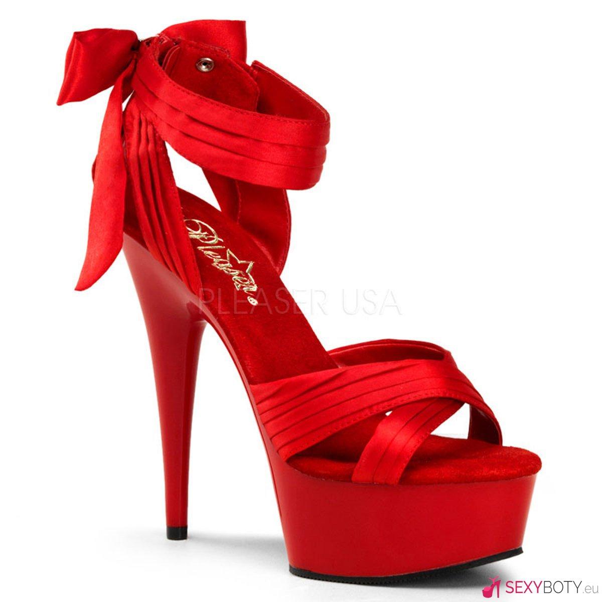 DEL668 RSA M Červené společenské boty na vysokém podpatku a platformě a1fa02aeb8