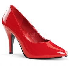 DREAM-420W Červené dámské lodičky na podpatku