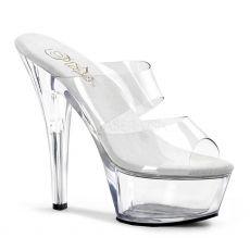 KISS-202 Sexy průhledná gogo taneční obuv na podpatku