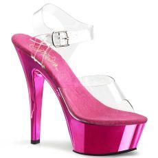 KISS208/C/HPCH Růžové sexy boty na strip